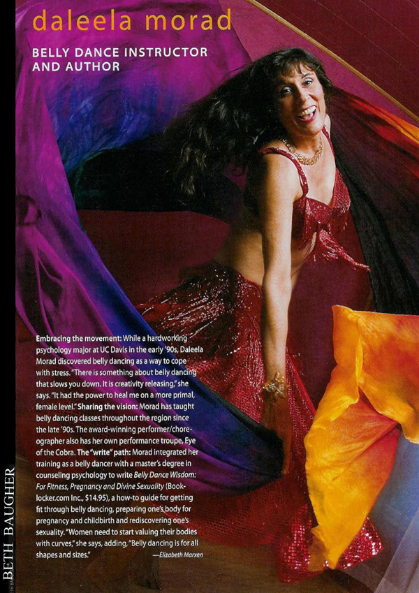 Review of Sacramento Belly Dance Instructor and Author Daleela Morad, by Elizabeth Marxen of Sacramento Magazine